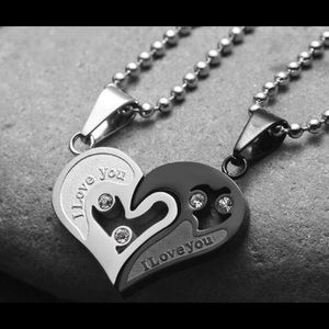 Jewelry - 1 Pair I Love You Stainless Steel Chain for Couple